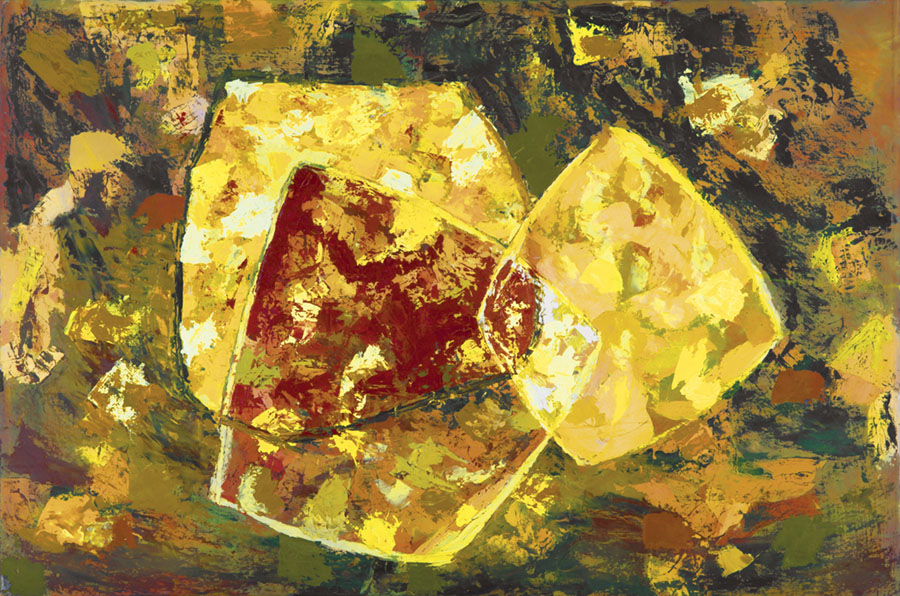 Yellow and Brown Abstract